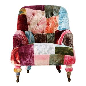 HALO ANNE CHAIR (VELVET PATCHWORK BOHEME)[1人掛けソファ]